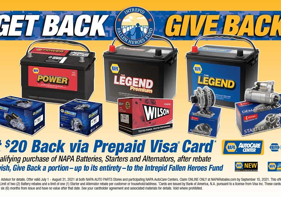 Give Back with NAPA Batteries