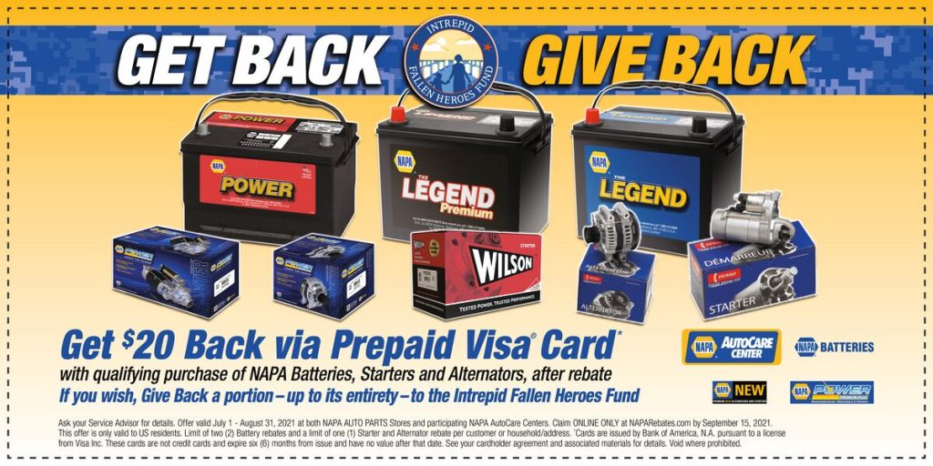 Get Back Give Back with NAPA Car Batteries